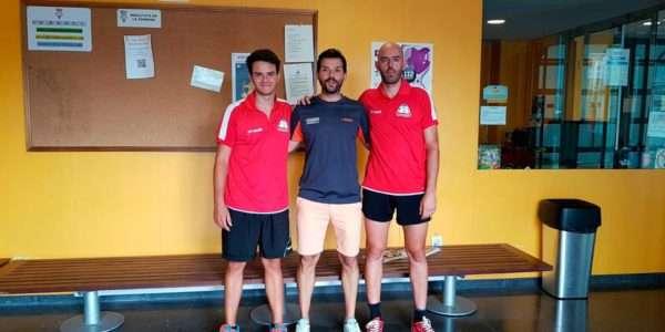 Òscar Gallego amb Jordi Piella i Arnau Roca